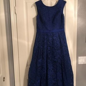 Royal Blue Lace Ball Gown